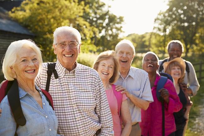 friends hiking hobby for seniors